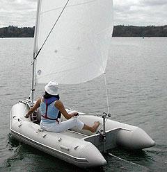парус на лодку колибри